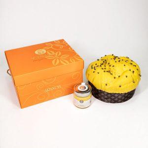 Panettone all'Arancia con Crema spalmabile